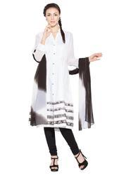 Beautiful White Colored Designer Long Ladies Suit