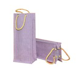 Coloured Jute Wine Bag