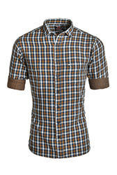 Casual Double Fabric Shirt