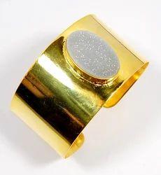 Druzy Adjustable Cuff Bracelet