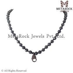 92.5 Stirling Silver Hematite Gemstone Jewelry Necklace