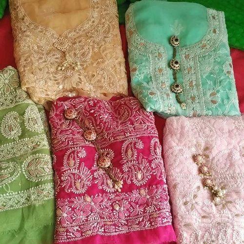 Dress Material Chikankari Dress Material Manufacturer