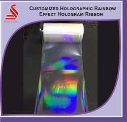 Holographic Rainbow Effect Ribbon Overlay