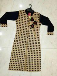 Embroidered Woolen Kurti , Size : M L Xl Xxl 3XL 4XL