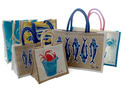 Promotional Printed Jute Shopping Bags, Capacity: 1 - 10 Kg