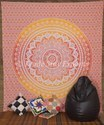 Multicolor 100 % Cotton Indian Ombre Mandala Tapestry Cotton Wall Hanging, Size: 220 X 240 Cm, Packaging Type: Export Quality