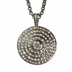 Round Diamond Pave Pendant