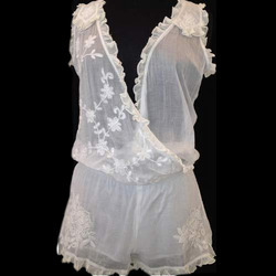 Ladies Lace Frill Dress