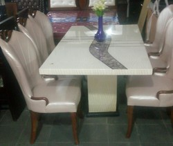 1  6 Marble Dinning Table