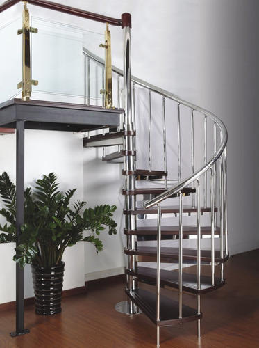 SS Glass Spiral Stairs