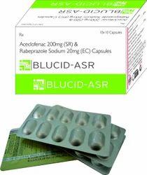 Aceclofenac 200mg Rabeprazole 20mg (sr)