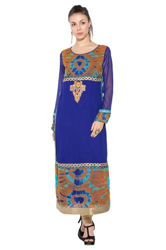 2fb8185ed79e Beautiful Party Wear Designer Pakistani Style Long Kurti