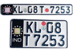 Bike Number Plates German Font Color Black At Rs 499 Pair S
