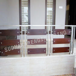 SS Frame With Wooden Handrail