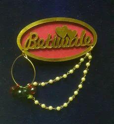 Golden Betiwale Wedding Brooch