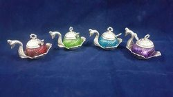 Beautiful Swan Shaped Metal Bowl With Spoon Return Gift