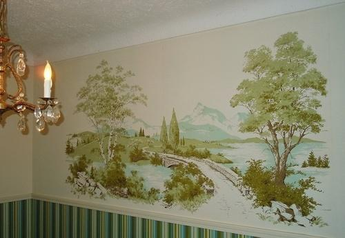 Vintage wall mural