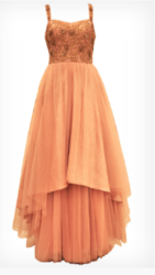 Apricot Tail Cut Gown