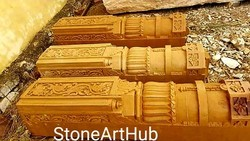 Yellow Stone Carving, Size: Custom