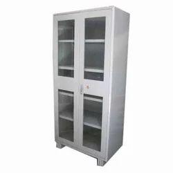 Mild Steel Glass Door Cupboard