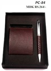 Gift Set of Visiting Card Holder & Pen TDK PC 84