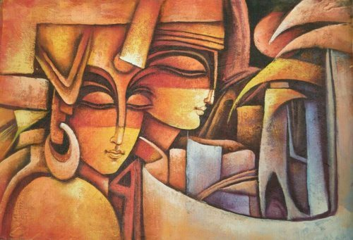 average dream modern art paintings aadhunik kala wali chitrakariyan
