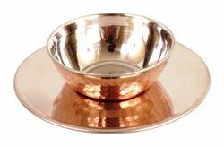 Indian Art Villa Brown & Silver steel copper arabian bowl, Size: 190 X 63 Inch