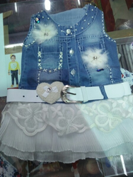 Kids Denim Frock