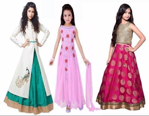 e6b988db816 Kids Lahenga Choli For 6 To 12 Years Old Combo Pack 3 at Rs 1599 ...