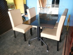 Restaurant Dining Table & Wooden Chairs