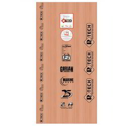 Plywood Label Sticker