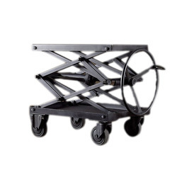 Industrial Iron Adjustable Bar Cart