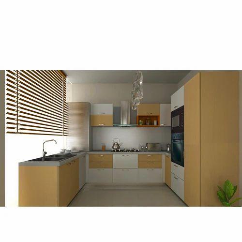 U Shaped Modular Kitchen, यू आकार की मॉड्यूलर रसोई, यू शेप