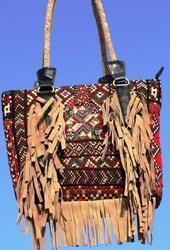 Women's Indian Banjara Fringes Tote Bag