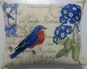 Elegant Vintage Bird Cushion