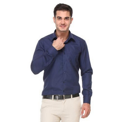 Mens Navy Blue Shirt, Gents Shirts, Mens Shirts - Sidhbali ...