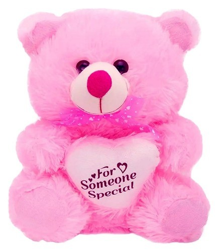 879f427d5f3 Pink Color Fur With Heart Teddy Bear 2 Feet ( 55 Cm ) at Rs 349 ...