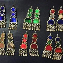Brass Women,Girls Afghani Earrings