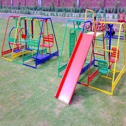 Three In One Mini Play Stations With Swings Slides