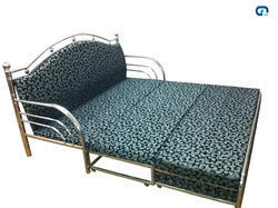 stainless steel sofa cum bed at rs 15000 set s stainless steel rh indiamart com