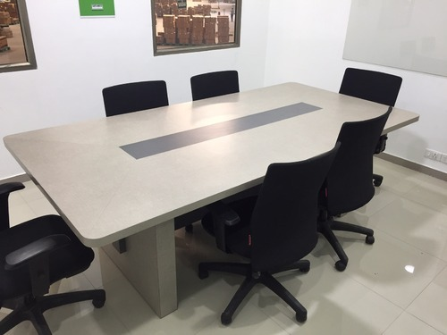 Wooden Rectangular Meeting Room Table Warranty 1 Year