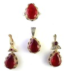 Vintage Turkish Style Sterling Silver with Brass Pendant Set