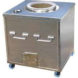 Stainless Steel Square SS Mobile Tandoor, For Hotel, Restaurant