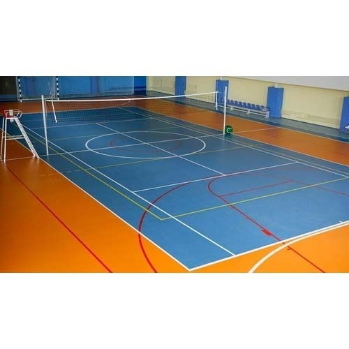 Indoor Synthetic Volleyball Court Dimension 18 X 9 M Rs