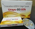 Urays D3 60 K Cholecalciferol Soft Gelatin Capsule