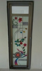 Color Anodize Standard Aluminum Bathroom Glass Door, Size/dimension: 60*25