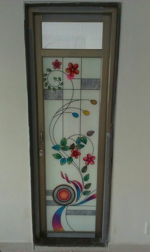Color Anodize Standard Aluminum Bathroom Glass Door Size Dimension 60 25 Rs 5000 Piece Id 15236828955