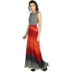 Red and Gray Women Dresses