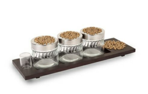 Brown Three Jar Mukhwas Organizer, Packaging Type: Box