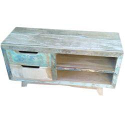 Reclaimed Wood TV Table, L231xW109xH77 Cm